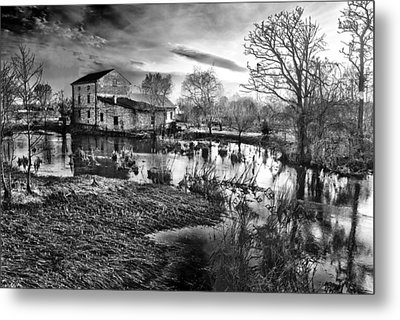 Mill By The River Metal Print by Jaroslaw Grudzinski