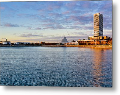 Metal Print featuring the photograph Milwaukee At Sunrise by Ricky L Jones