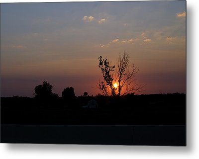 Missouri Sunset Metal Print by Roseann Errigo