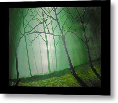 Misty Green Metal Print by Haleema Nuredeen
