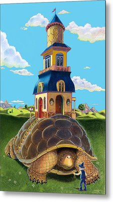 Mobile Home Metal Print by J L Meadows