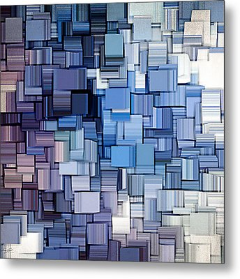 Modern Abstract Vi Metal Print by Lourry Legarde