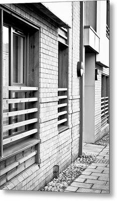 Modern Apartment Windows Metal Print by Tom Gowanlock