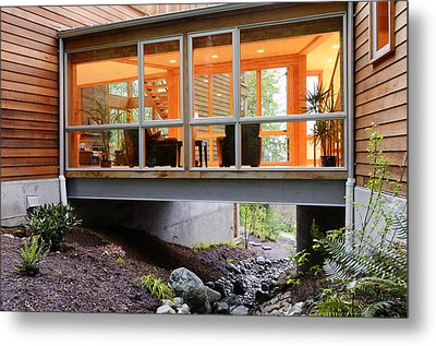 Modern House Over Rocky Creek Metal Print by Will Austin