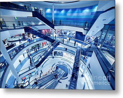 Modern Shopping Mall Interior Metal Print by Michal Bednarek