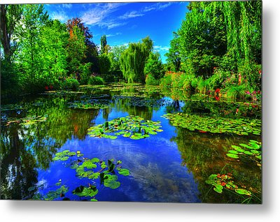 Monet's Lily Pond Metal Print