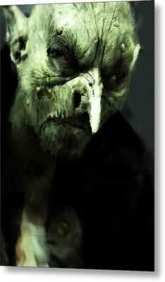 Monster With Big Nose Metal Print
