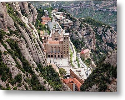 Montserrat Monastery From Above Metal Print by Artur Bogacki