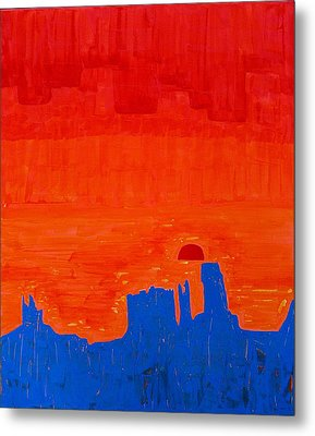 Monument Valley Original Painting Metal Print