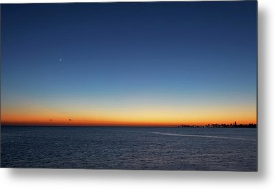 Moon And Venus At Sunrise Metal Print by Luis Argerich