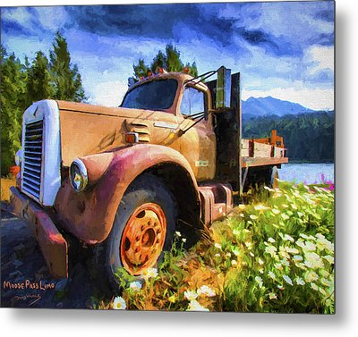 Moose Pass Limo Metal Print by David Wagner
