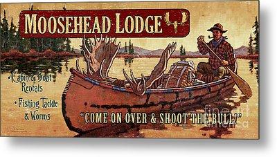 Moosehead Lodge Metal Print by Tim Tanner