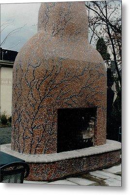 Mosaic Fireplace Metal Print by Charles Lucas