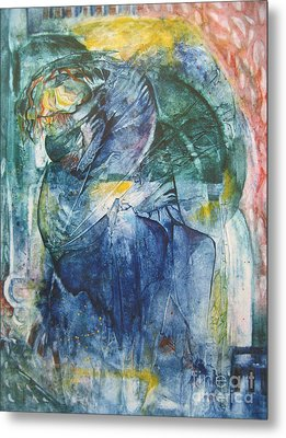 Metal Print featuring the painting Mother And Child by Diana Bursztein