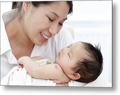 Mother With Baby Daughter Metal Print
