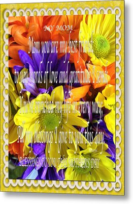 Mothers Day Cards Metal Print by Debra     Vatalaro