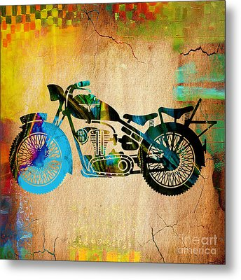 Motorcycle Painting Metal Print by Marvin Blaine