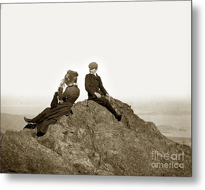 Metal Print featuring the photograph Mount Tamalpais Marin County  Circa 1902 by California Views Mr Pat Hathaway Archives