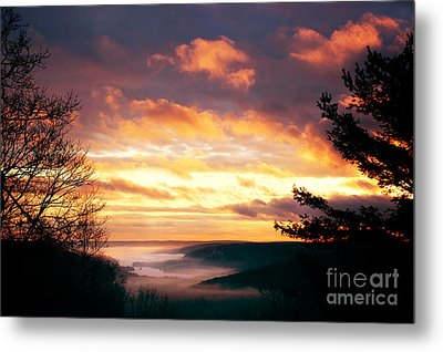 Mountain Fog Metal Print by HD Connelly