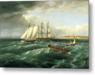 Mouth Of The Delaware Metal Print by Thomas Birch