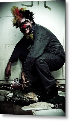 Mr Squatter The Unemployed Clown Metal Print