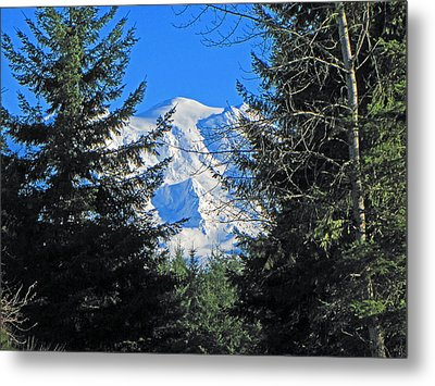 Metal Print featuring the photograph Mt. Rainier I by Tikvah's Hope