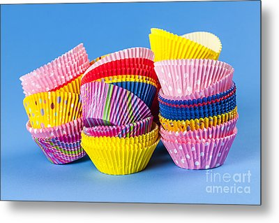 Muffin Cups Metal Print by Elena Elisseeva