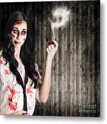 Murder Mystery Who Done It Metal Print