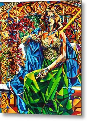 Metal Print featuring the painting Muse  Summer by Greg Skrtic