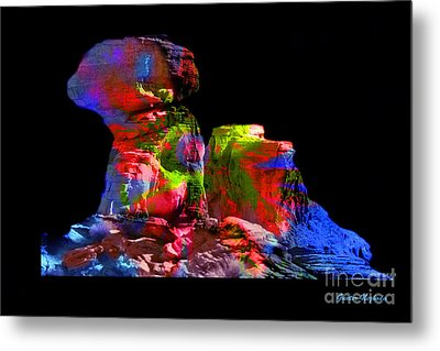 Mushroom Rock Metal Print by Gunter Nezhoda