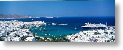 Mykonos Island Greece Metal Print by Panoramic Images