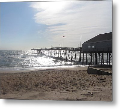 Nags Head Pier 2 Metal Print