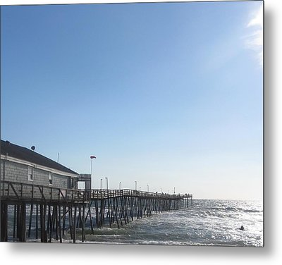 Metal Print featuring the photograph Nags Head Pier by Cathy Lindsey