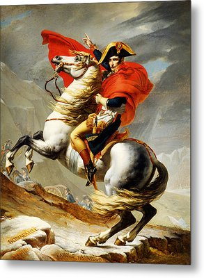 Napoleon Crossing The Alps Metal Print by Celestial Images
