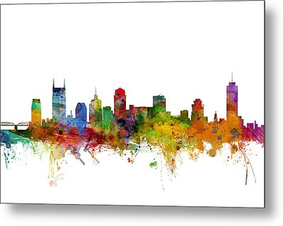 Nashville Tennessee Skyline Metal Print by Michael Tompsett