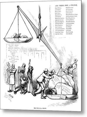 Nast Election, 1876 Metal Print