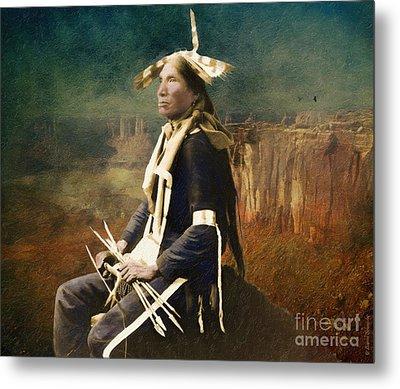 Native Honor Metal Print by Lianne Schneider