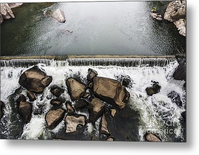 Nature Photograph Of Running Water Steam Metal Print by Jorgo Photography - Wall Art Gallery