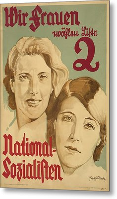 Nazi Party Poster For The German Metal Print