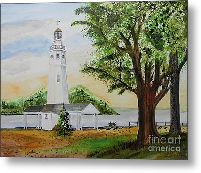 Neenah Light House Metal Print