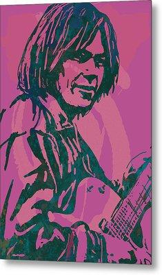 Neil Young Pop Artsketch Portrait Poster Metal Print