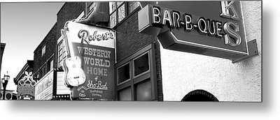 Neon Signs On Building, Nashville Metal Print