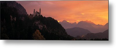 Neuschwanstein Palace Bavaria Germany Metal Print by Panoramic Images