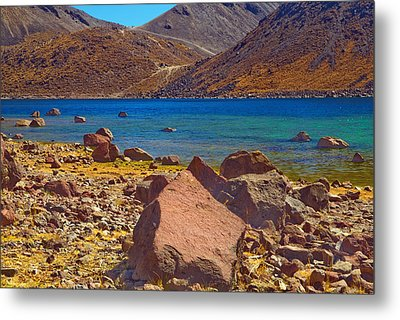 Nevado De Toluca Old Volcano Near Toluca Mexico Metal Print