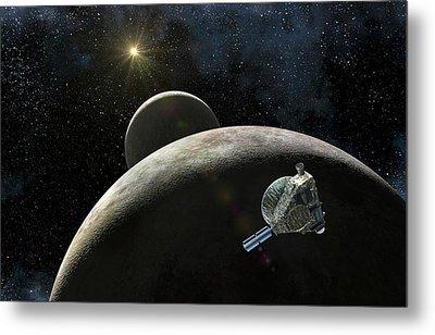 New Horizons At Pluto Metal Print