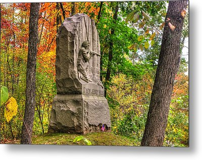 New Jersey At Gettysburg - 13th Nj Volunteer Infantry Near Culps Hill Autumn Metal Print