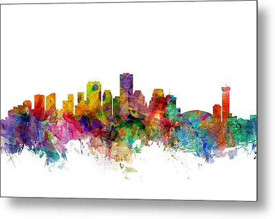 New Orleans Louisiana Skyline Metal Print by Michael Tompsett