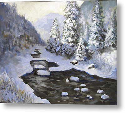 New Snow Metal Print