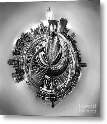 Manhattan World Metal Print by Az Jackson