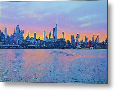 New York City Metal Print by Bill Cannon